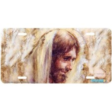 """Jesus"" Christian Religious Airbrushed License Plate"