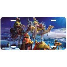 And Three Wise Men Came Religious Airbrushed License Plate