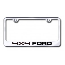 4X4 Ford Chrome Laser Etched License Plate Frame