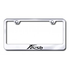 Fiesta Laser Etched Chrome Metal License Plate Frame