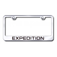 Expedition Laser Etched Chrome Metal License Plate Frame