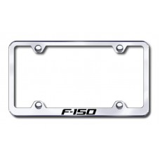F150 Wide Body Laser Etched Chrome Metal License Plate Frame