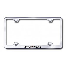 F250 Wide Body Laser Etched Chrome Metal License Plate Frame