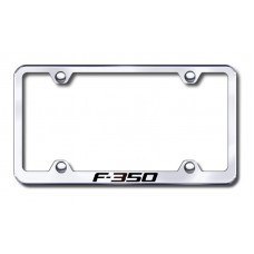F350 Wide Body Laser Etched Chrome Frame -Metal