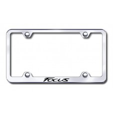 Focus Wide Body Laser Etched Chrome Metal License Plate Frame