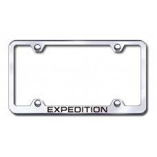 Expedition Wide Body Laser Etched Chrome Metal License Plate Frame