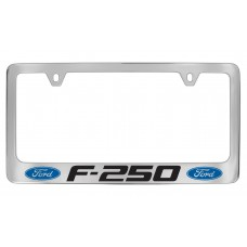 Ford - F- 250  W / 2 Logos - Chrome Plated Brass