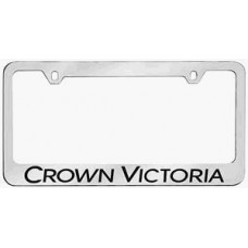 Crown Victoria Solid Brass License Plate Frame