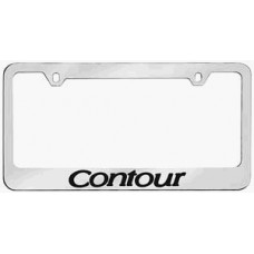 Contour Solid Brass License Plate Frame