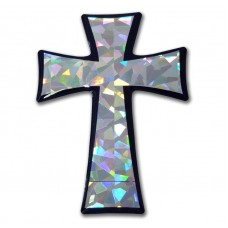 Cross Tapered Silver Bling Emblem