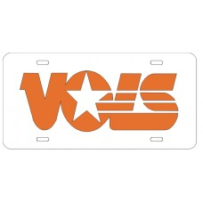 VOLS - White License Plate