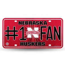 NEBRASKA BLING # 1 FAN METAL TAG