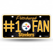 STEELERS #1 FAN PRIMARY LOGO METAL TAG