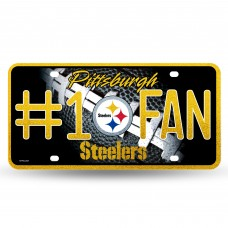 STEELERS BLING # 1 FAN METAL TAG