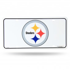 STEELERS PRIMARY LOGO METAL TAG (WHITE)