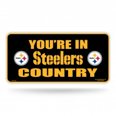 STEELERS COUNTRY METAL TAG (BLACK)