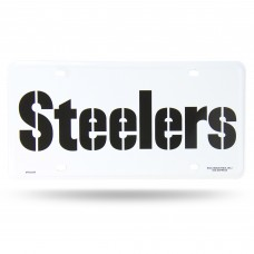 STEELERS WORDMARK METAL TAG (WHITE)