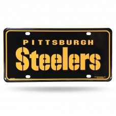 PITT STEELERS WORDMARK METAL TAG (BLACK)