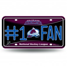 COLORADO AVALANCHE #1 FAN METAL TAG