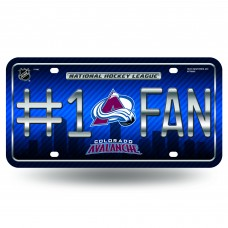 COLORADO AVALANCHE #1 FAN SKYLINE METAL TAG