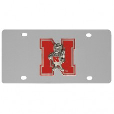 Nebraska Cornhuskers Stainless Steel License Plate