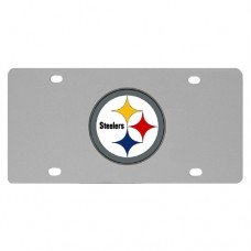 Pittsburgh Steelers Stainless Steel License Plate