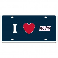 I Love Giants License Plate
