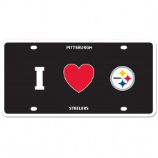 I Love Steelers License Plate