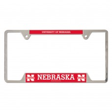 Nebraska University of Metal License Plate Frame