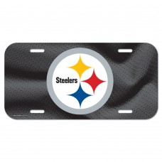 Pittsburgh Steelers Black Logo License Plate