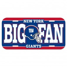 New York Giants Big Fan License Plate