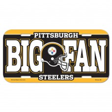 Pittsburgh Steelers Big Fan License Plate