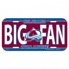 Colorado Avalanche License Plate