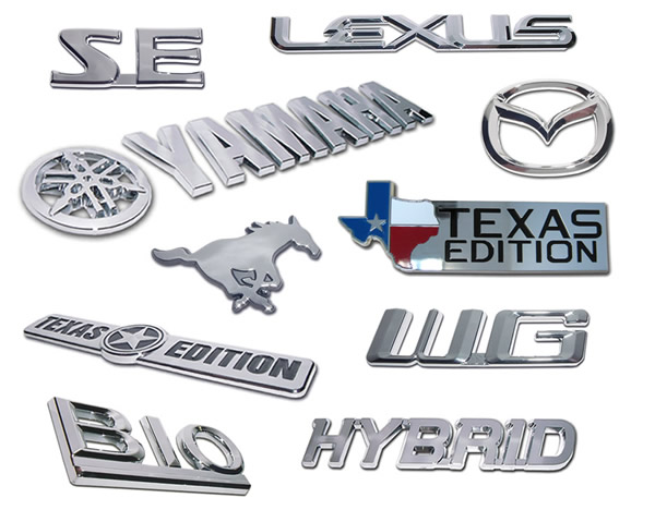 Custom chrome emblems