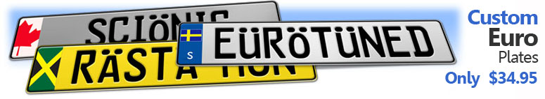 Custom Authentic Style European License Plates