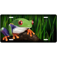 Tree Frog on Stone License Plate
