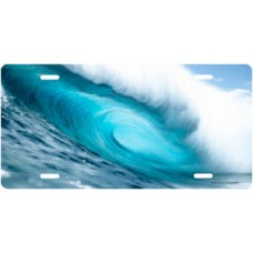 Crystal Blue Wave License Plate