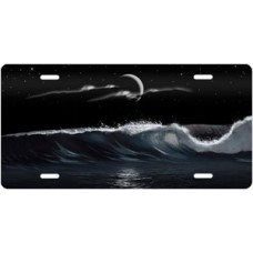 Night Wave Palms Scenic License Plate