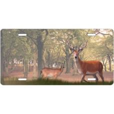 Felt Antlers Wilderness Deer License Plate