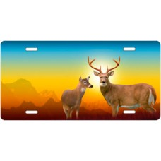 Deer on Full Color License Plate
