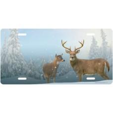 Winter Deer License Plate