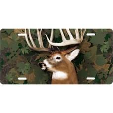 Buck on Camo License Plate