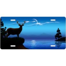 Blue Lake Buck License Plate