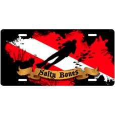 Salty Bones Cave Diving License Plate