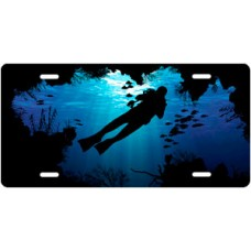 Cave Diving License Plate