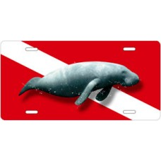 Manatee Diving License Plate