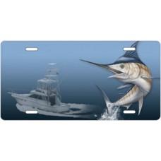 Marlin Fishing License Plate