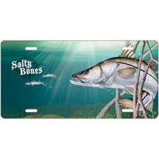 Salty Bones Snook License Plate