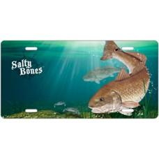 Salty Bones Redfish License Plate