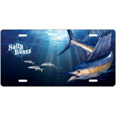 Salty Bones Sailfish License Plate
